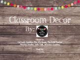 Rustic Wood & Pom Pom Classroom Decor Bundle