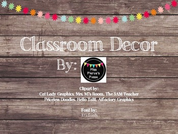 Rustic Wood & Pom Pom Classroom Decor Bundle