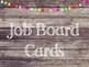 Rustic Wood & Pom Pom Job Board Cards