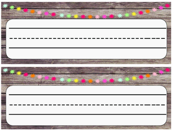 Rustic Wood & Pom Pom Name Plates-Locker Tags