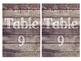 Rustic Wood & Pom Pom Table Numbers