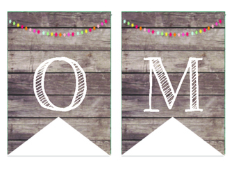 Rustic Wood & Pom Pom Welcome Banner
