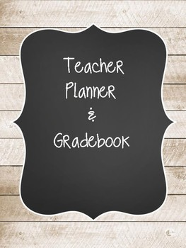 Rustic Wood Teacher Planner & Gradebook