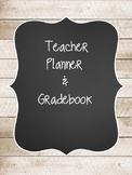 Rustic Wood Teacher Planner & Gradebook