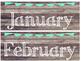 Rustic Wood & Teal Banner Calendar Set