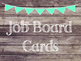 Rustic Wood & Teal Banner Job Board Cards