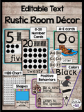 Rustic Wood Themed Class Decor (Editable Version)
