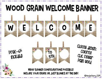 Rustic Wood Welcome Banner