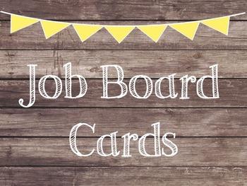 Rustic Wood & Yellow Banner Job Cards