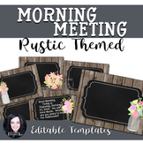 Rustic Wood and Mason Jar Themed Morning Meeting Templates