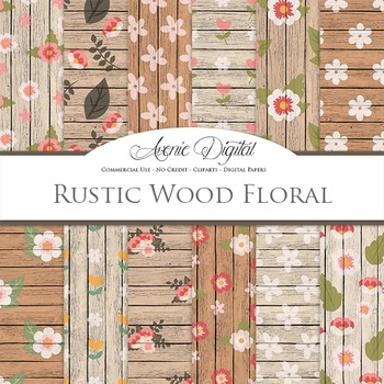 graphic regarding Printable Wood Paper called Rustic Wooden bouquets Electronic Paper floral printable behavior sbook heritage