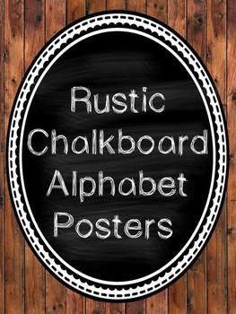 Rustic Wooden Print Alphabet