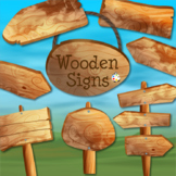Rustic Wooden Sign ClipArt Collection