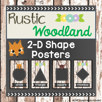 Rustic Woodland 2-D Shape Posters