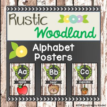 Rustic Woodland Alphabet Posters