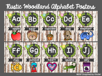 Rustic Woodland Alphabet Posters