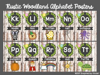Rustic Woodland Alphabet and Number Posters {A Mini-Bundle}