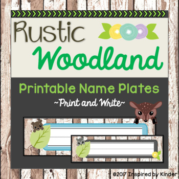 Rustic Woodland Animal Name Plates {Free}