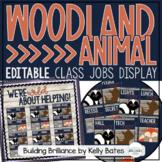 Rustic Woodland Animals Class Jobs Display {EDITABLE}