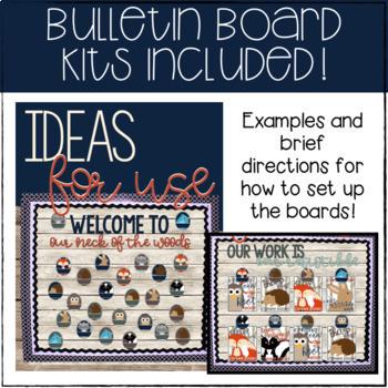 Rustic Woodland Animals Complete Classroom Decor Set {EDITABLE}