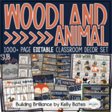 Rustic Woodland Animals Complete Classroom Decor Set {EDITABLE}