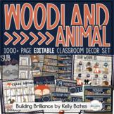 Rustic Woodland Animals Complete Classroom Decor Set BUNDLE {EDITABLE}