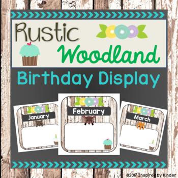 Rustic Woodland Animal Birthday Display (EDITABLE)
