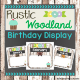 Rustic Woodland Animal Birthday Display (EDITABLE)