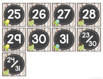 Rustic Woodland Animal Calendar Set