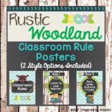Rustic Woodland Classroom Rules and BONUS Poster