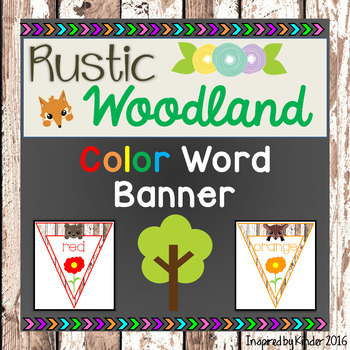 Rustic Woodland Color Word Banner