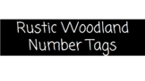 Rustic Woodland Number Tags