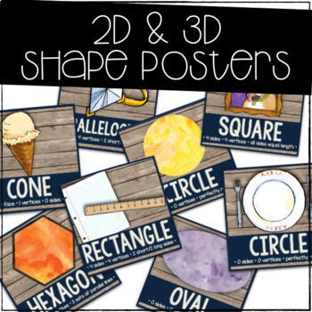 Rustic Woodland Shape Posters