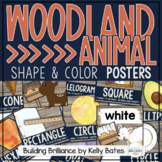 Rustic Woodland Animal Color and Shape Posters