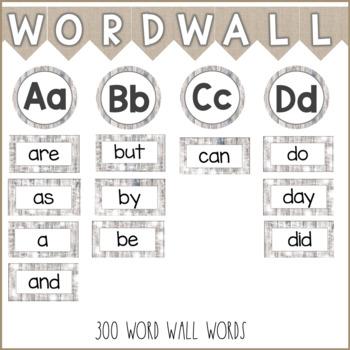 Rustic Word Wall