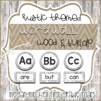 Rustic Classroom Decor Word Wall