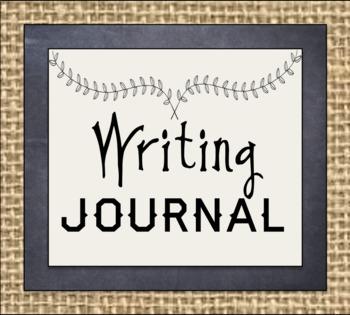 Rustic and Burlap Journal Labels