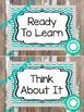 Rustic and Teal Behavior Clip Chart. Classroom Management.