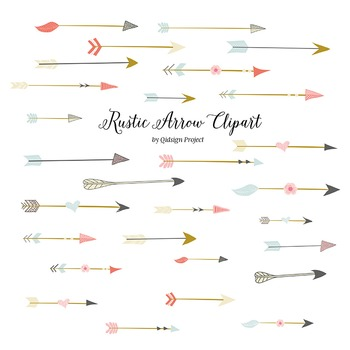 Rustic arrow clipart for scrapbooking, wedding invitation,