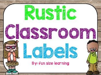 Rustic classroom lables