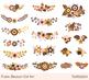 Rustic flower clipart, Brown boho wedding flower clip art, Atumn floral bouquet