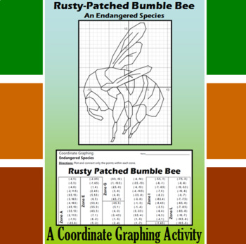 Rusty Patched Bumble Bee - A Coordinate Graphing Activity