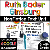 Ruth Bader Ginsburg - Nonfiction Text Unit