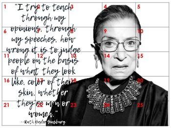 Ruth Bader Ginsburg Classroom Collaborative Poster/ Bulletin Board Display