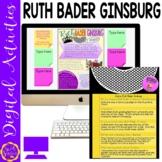 Womens History Month Google Slides   Ruth Bader Ginsburg   Biography Project