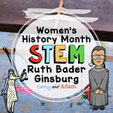 Ruth Bader Ginsburg I Dissent Read Aloud Women's History Month STEM Activity