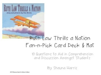 Ruth Law Thrills A Nation fan & Pick cards (Trophies 2nd grade)