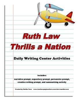Ruth Law Thrills a Nation: Writing Center (2nd Grade Harcourt)