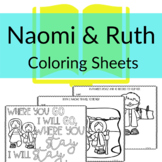 Ruth & Naomi Coloring Sheets for Sunday School or Homescho