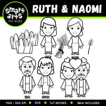 Ruth and Naomi Clip Art